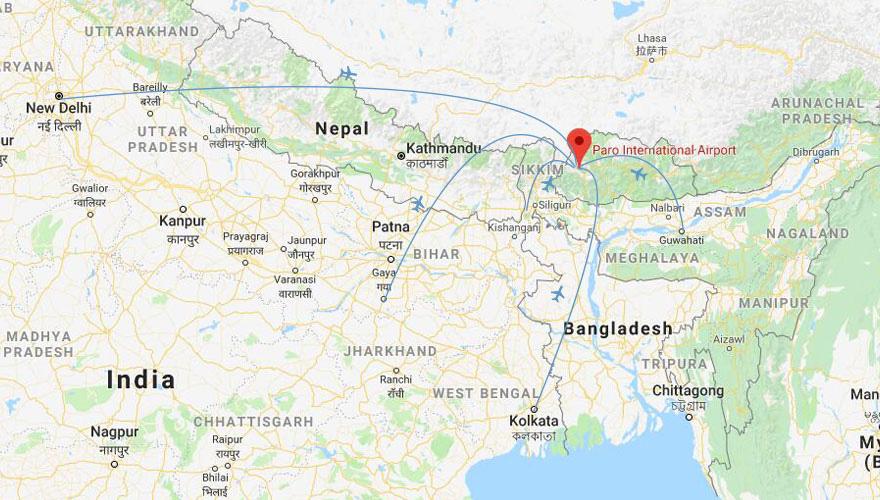Asia To Bhutan Flights How Get