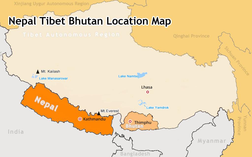 Výsledek obrázku pro bhutan map