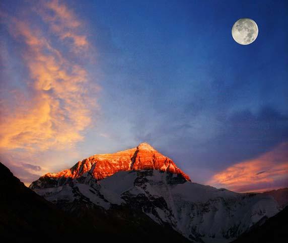 Amazing Sunset of Mount Everest