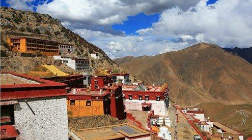 Winding Road to the Ganden Monastery
