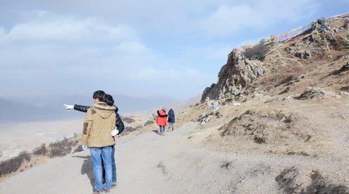Bird View of Whole Kyichi Valley from Ganden Monastery Mountain