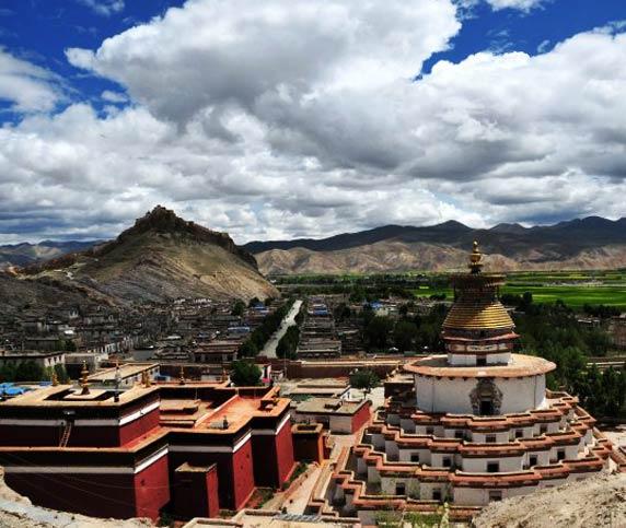 Perklor Monastery and Gyantse Town