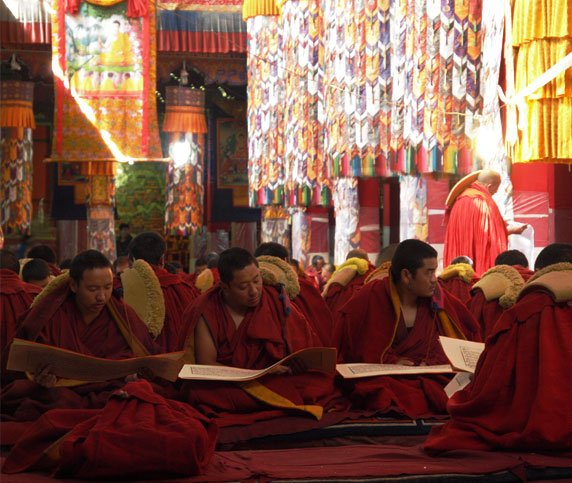Monks in Drepung Monastery