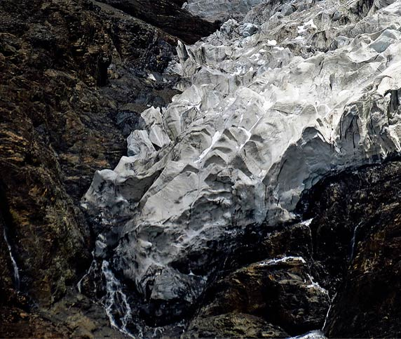 The Texture and Tip of Korola Glacier
