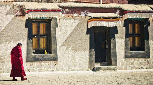 A Monk in Tashi Lhunpo Monastery