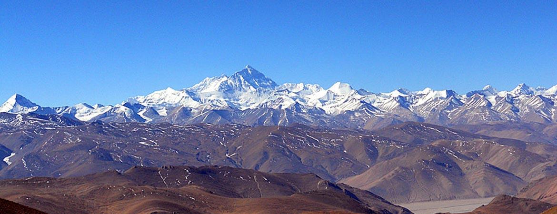 Mt.Everest and Mt.Lhotse of the Himalaya Range