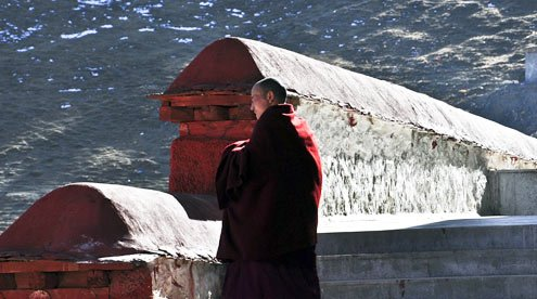 local monk of Ganden Monastery