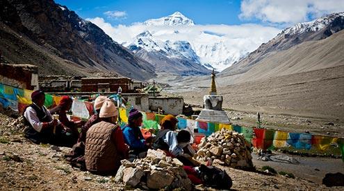 A Local Tibetan Family at Rongbuk Monastery