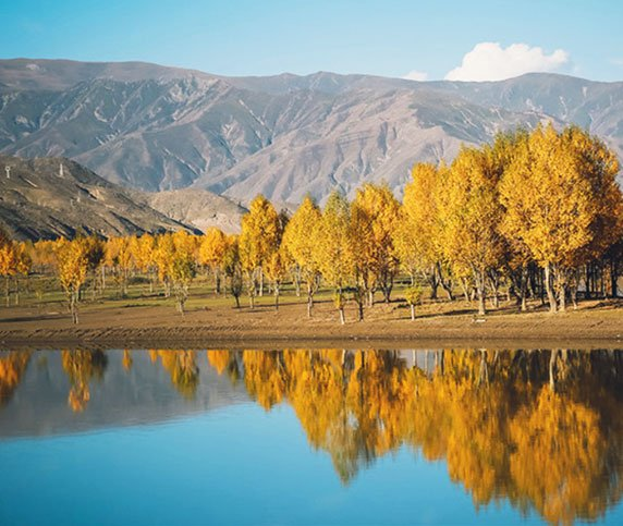Autumn View of Yalong River