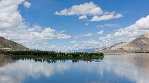 Yalong River along the Way back to Lhasa