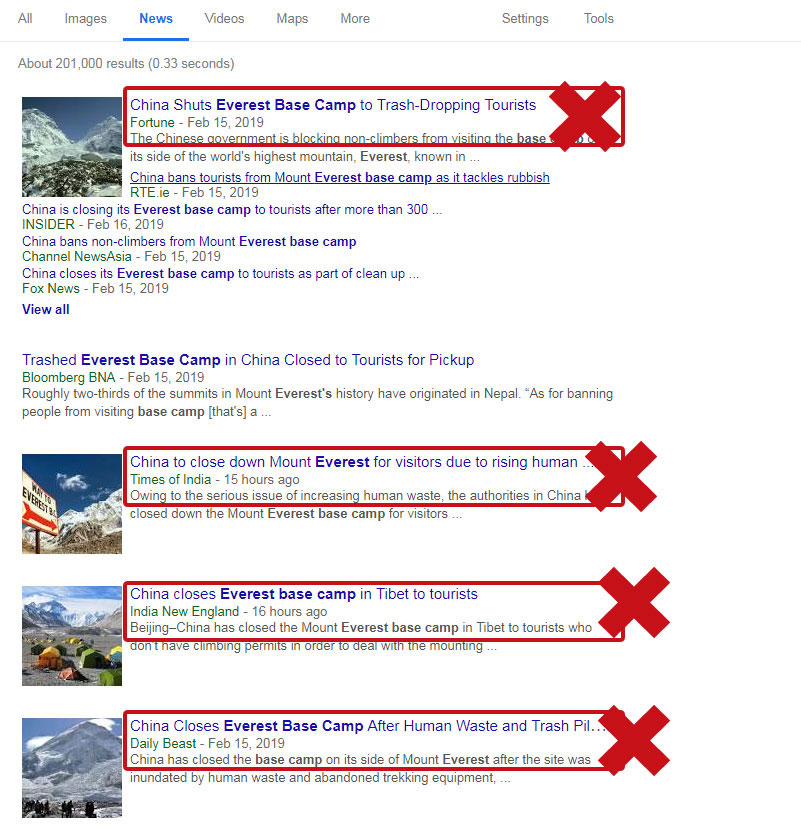 Rumors about Everest Base Camp Closed News
