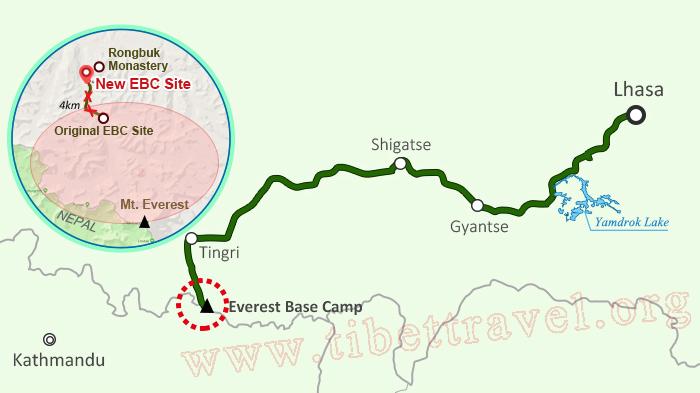 everest base camp tibet new site