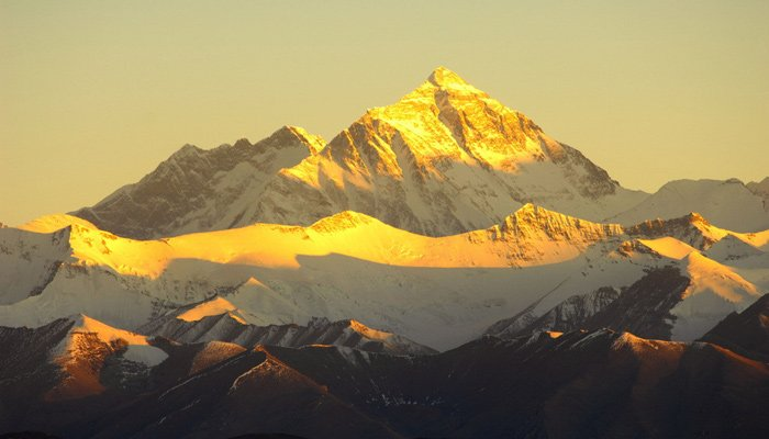 beautiful sunrise of Everest in Winter