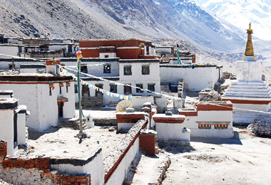 The View of Rongbuk Monastery