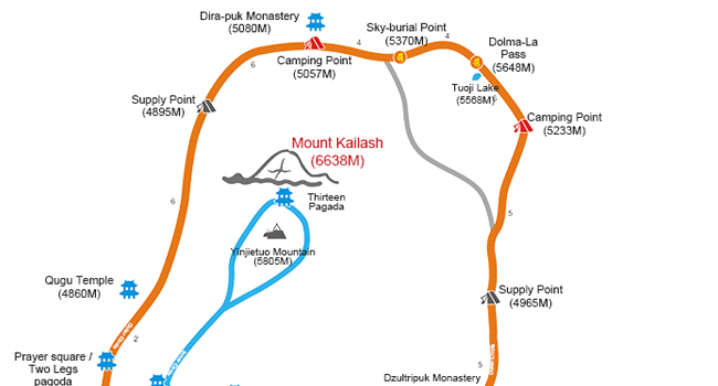 Mount Kailash Trekking Map