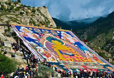 Buddha Unfolding Ceremony of Drepung Monastery