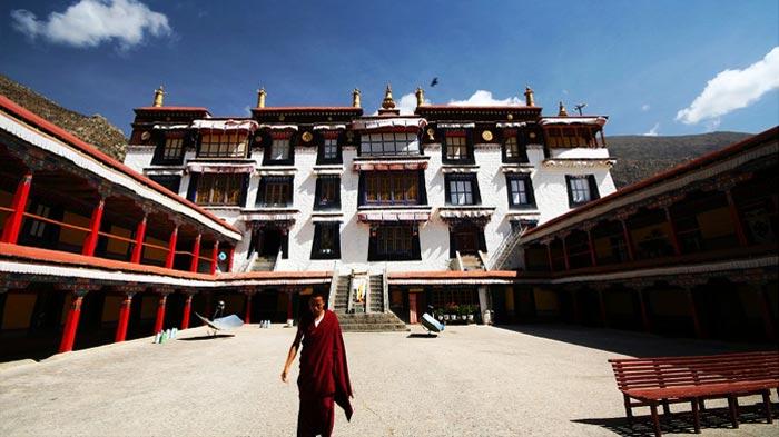 Courtyard of  Drepung Monastery