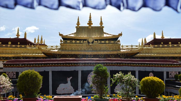 Jokhang Temple in Lhasa is the holiest site in Tibetan Buddhism.
