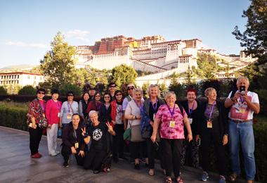 Visit Potala Palace on a sunny morning