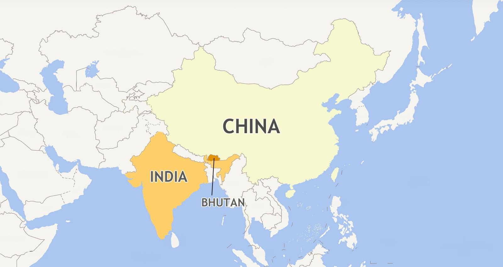 Bhutan Border Map/Bhutan Map with Surrounding Countries on india china boundary map, spain border map, india border changes, russia border map, australia border map, france border map, pakistan border map, western chinese border map,