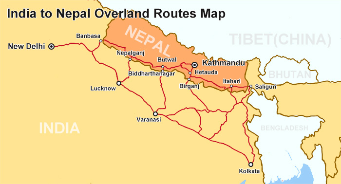 india to nepal train route map How To Travel From India To Tibet By Train india to nepal train route map