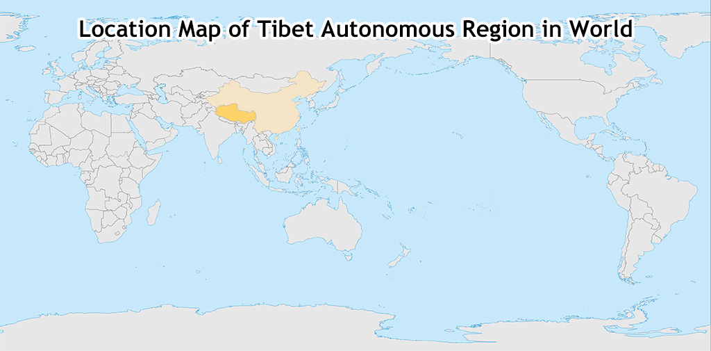 tibet map in the world