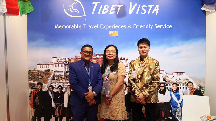 Mrs. Catherine Jigme and Mr. Yong Yang with Tour Agent from Other Country