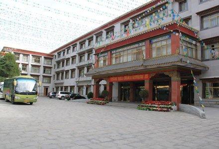 Facade of Lhasa Gang Gyan Hotel