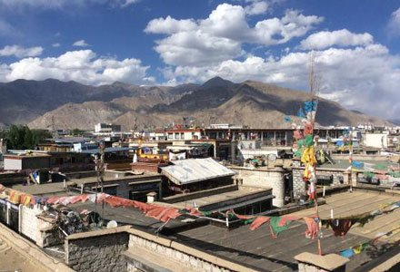 View from the Roof of Tashi Choten Hotel