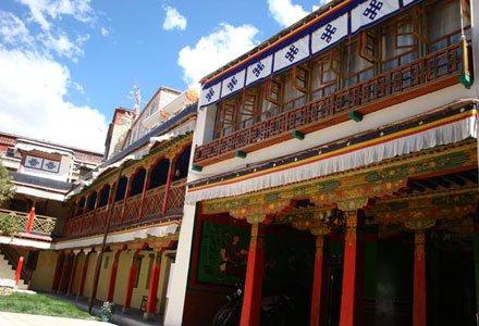 Facade of Yabshi Phunkhang Heritage Hotel