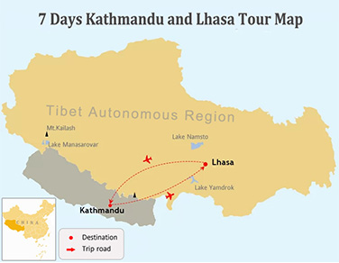 7 Days Lhasa and Kathmandu, a Tale of Two Cities Tour