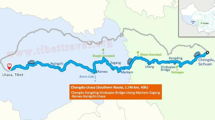 Famous Chengdu-Lhasa journey via G318 Hwy