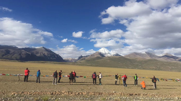 Capturing the stunning view of Mount Kailash for the distance
