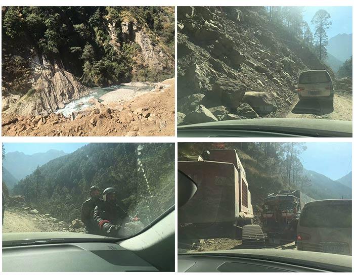 Latest road conditon at Gyirong Port