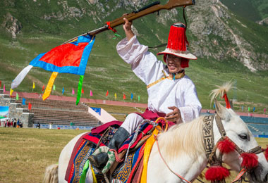 Rider in Horse Racing Festival