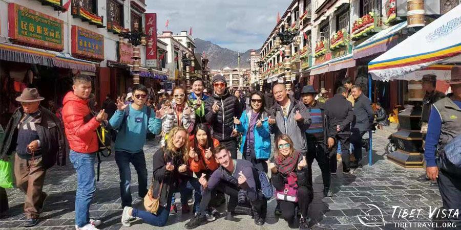Stroll at Barkhor Street in Lhasa