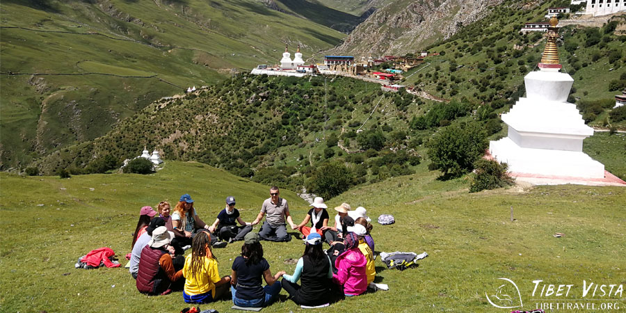 meditate at the enchanting valley around Yerpa Monastery
