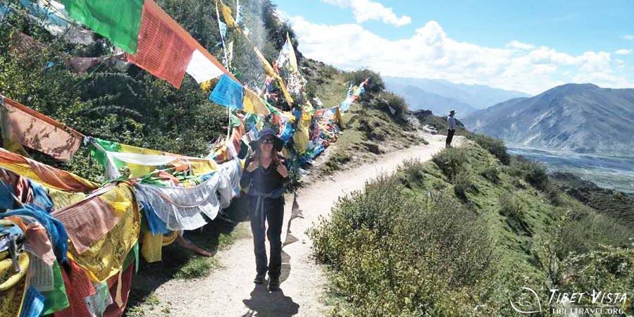Prayer flags on the kora way