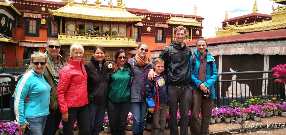 A photo in front of Jokhang Temple