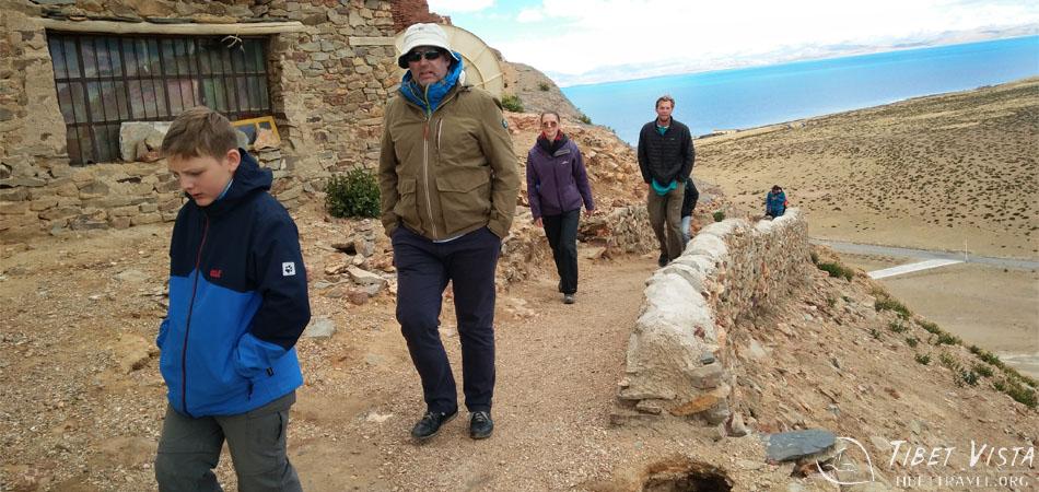 Group hiking near Lake Manasarovar