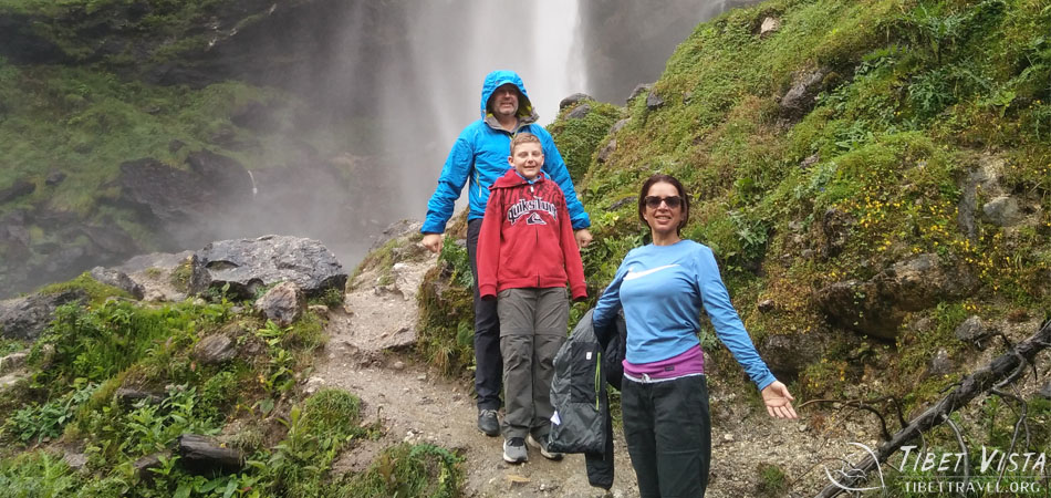 A waterfall in Gyirong