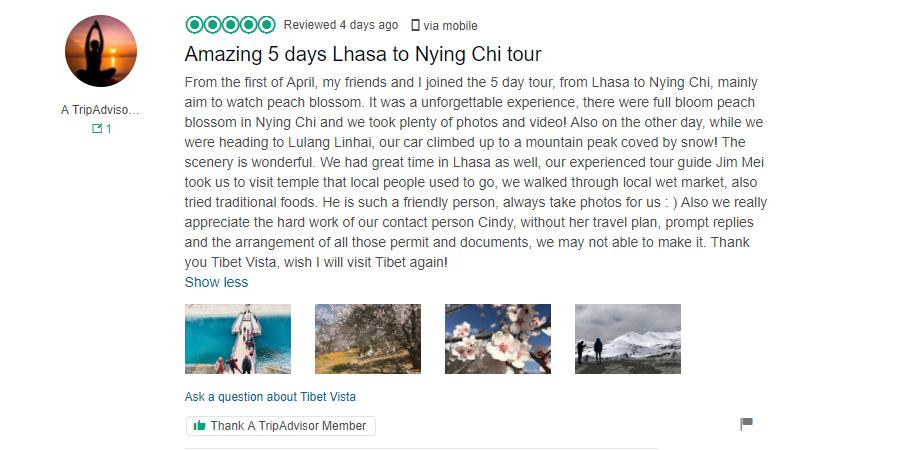 Nyingchi Tour Feedback