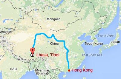 Hong Kong Tibet Train