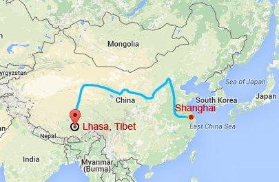 Shanghai Tibet Train Tour