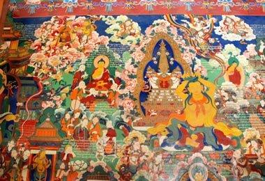The amazing Tibetan Buddhist murals of Tradruk - one of  the earlist Buddhist temples in Tibet.